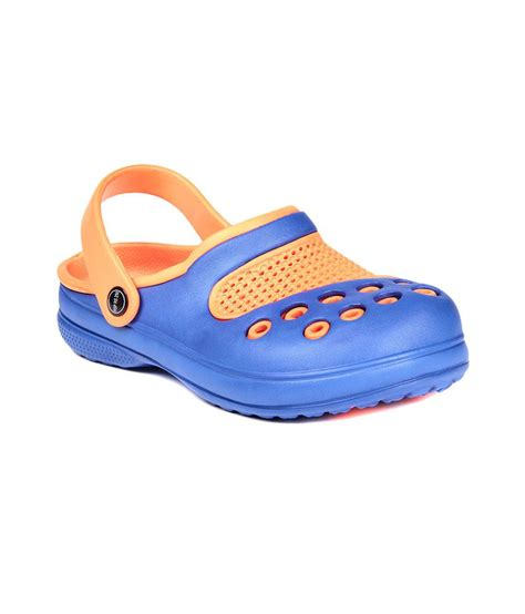 clog shoes for reecap clog shoes for in blue orange color buy
