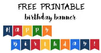 Free Happy Birthday Banner Templates by Happy Birthday Banner Free Printable Paper Trail Design
