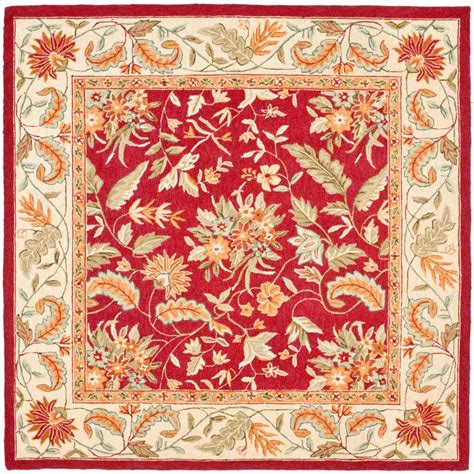 area rugs 8 x 8 safavieh chelsea 8 ft x 8 ft square area rug hk141c 8sq the home depot