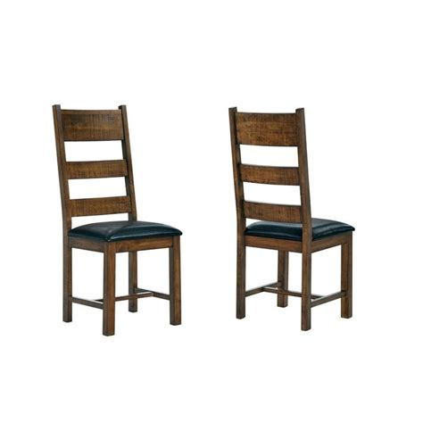 unfinished wood ladder back chairs coaster murillo ladder back solid wood dining chair in