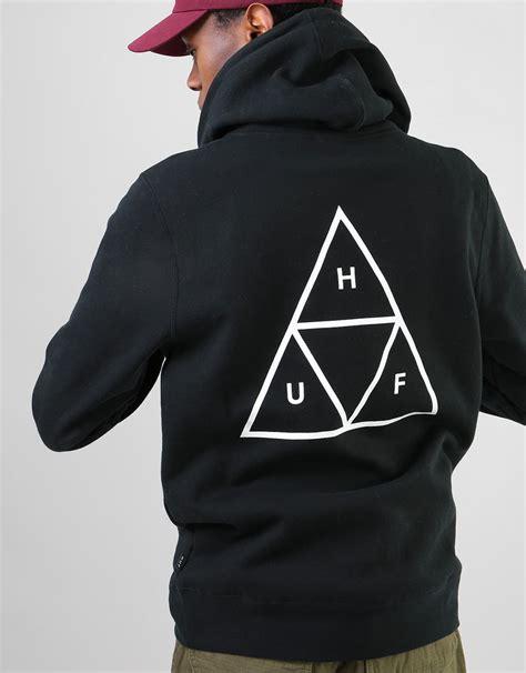 huf triangle pullover hoodie black skate