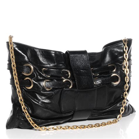 Jimmy Choo Oversized Day Clutch by Jimmy Choo Leather Oversized Clutch Black 70386