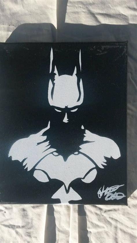 spray paint batman batman 8x10 minimalist spray paint on canvas made with