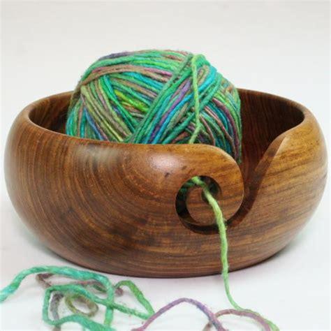 Handmade Yarn - handmade wooden yarn bowl darn yarn