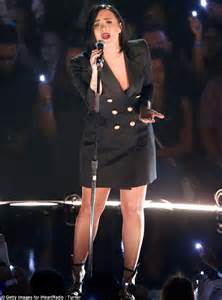 tattooed heart music awards demi lovato performs on stage at the iheartradio music
