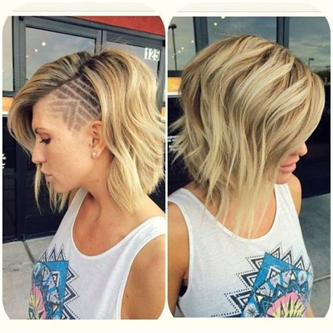 blonde bob growing out undercut shaved designs for women hair world magazine
