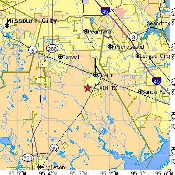 where is alvin texas on the map alvin texas tx population data races housing economy