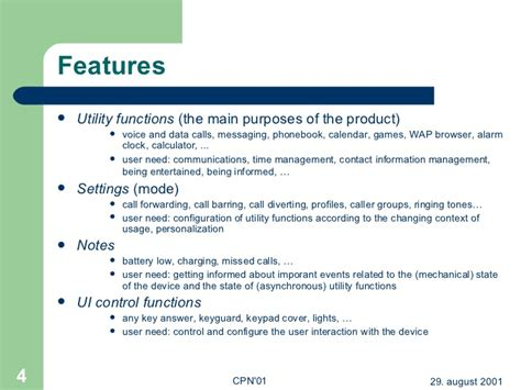 features of a mobile phone modelling feature interaction patterns in nokia mobile phones