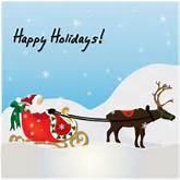Happy Holidays Santa Free christmas card clip art image - happy ...