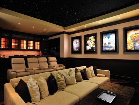 Home Theater Decor Ideas simple basement home theater room decorating ideas for