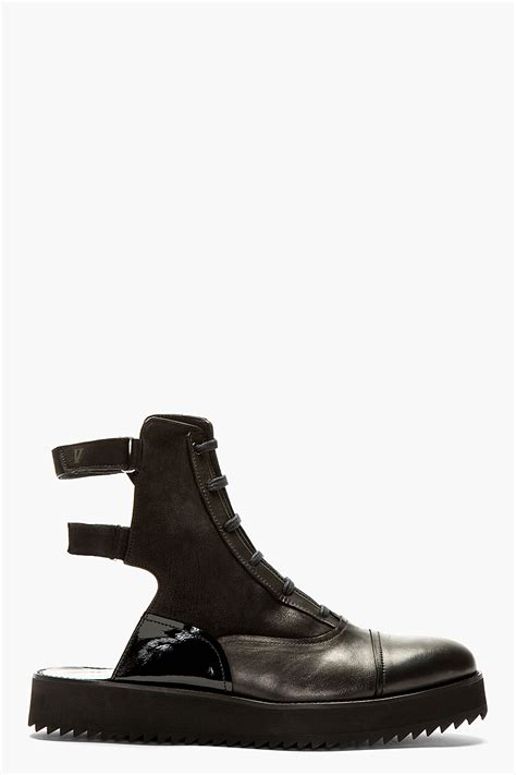 Handmade Shoes And Boots - v ave shoe repair black leather handmade jet boots in