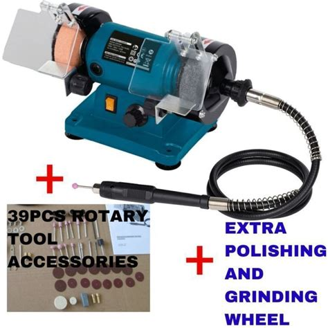 bench grinder accessories 120w bench grinder with 2 wheels 39pc accessories buy