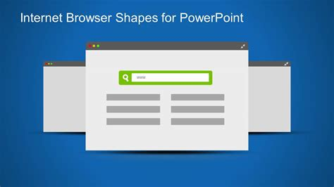 Web Browser Clipart Template For Powerpoint Slidemodel Powerpoint Templates For Website Presentation