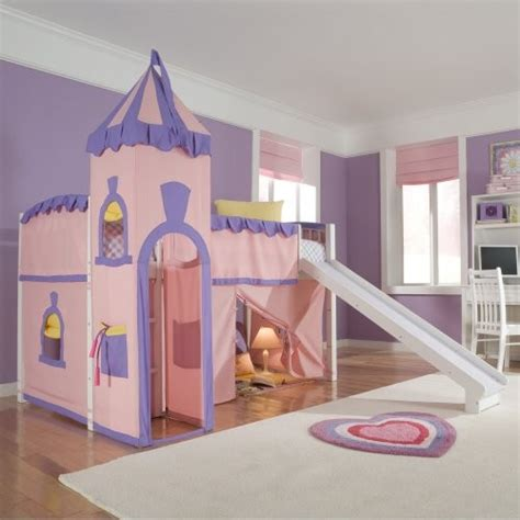 princess loft bed with slide schoolhouse twin princess loft bed eclectic kids beds