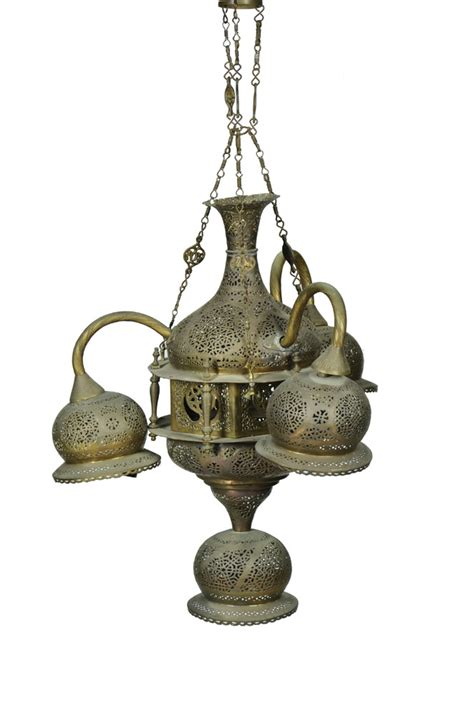 hanging a chandelier a brass islamic hanging chandelier
