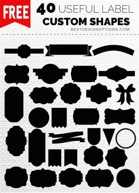 design label with photoshop ultimate list of free photoshop custom shapes heeeee