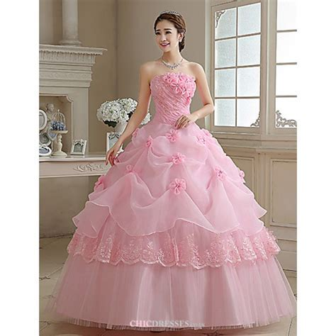 Ball Gown / Princess Wedding Dress   Blushing Pink Floor