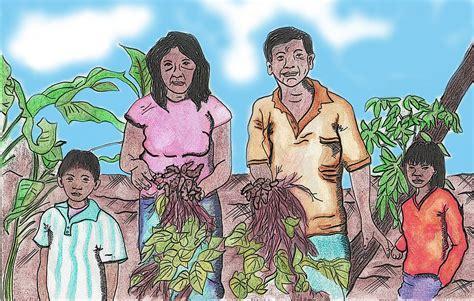 imagenes de la familia en quechua familia indigena dibujo realizado con acuarela lina