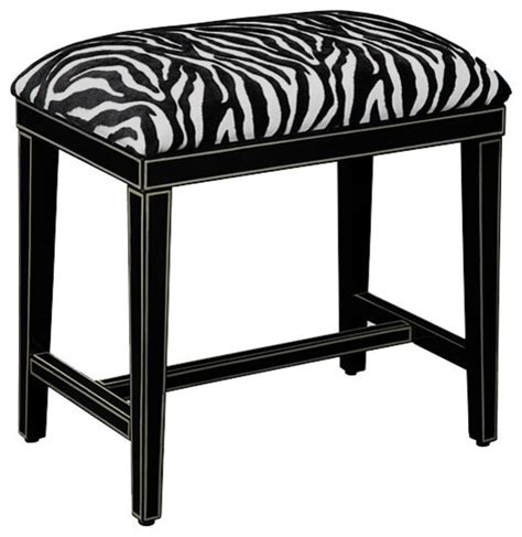 zebra print storage bench cosmo zebra print bench seat contemporary accent and