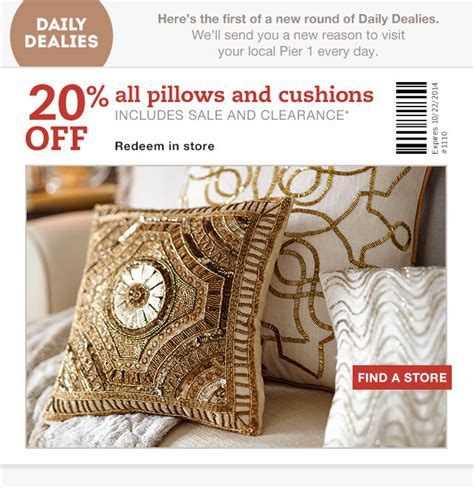 Pillows Coupon by Pier 1 Imports Canada Coupons