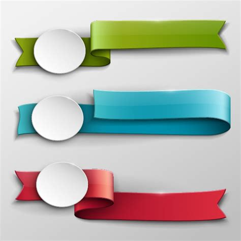 design banner vector vector banner colored ribbon design free vector in