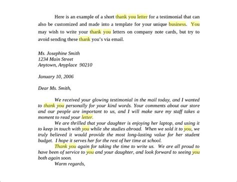 thank you letter business appreciation letter template