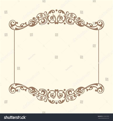Frame Vintage 1 vintage frames vector stock vector 103307870
