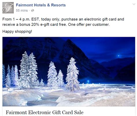 Marriott Gift Card Promotion 2015 - buy fairmont gift cards at 20 bonus on november 27 2015 at 1pm 4pm est