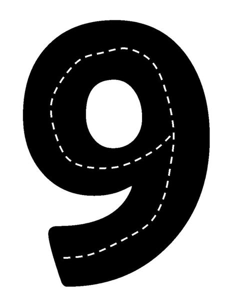 number eight printable template numbers and counting pinterest