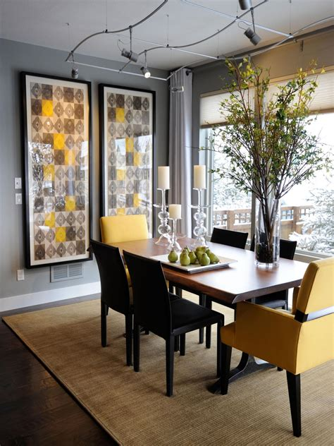 yellow dining room ideas gray dining room photos hgtv