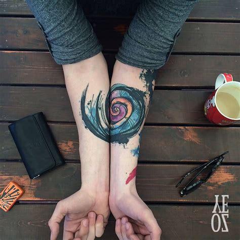 spiral forearm  tattoo design ideas
