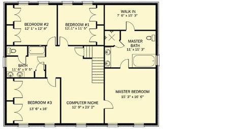 center colonial floor plan center colonial 61303ut architectural designs house plans