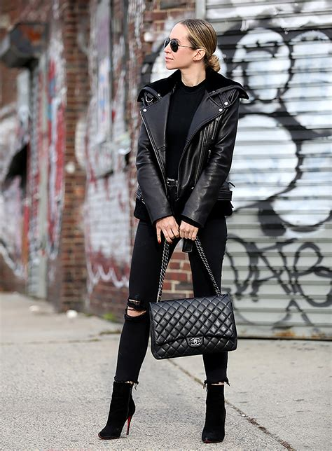 black winter outfit ideas  fashion trends
