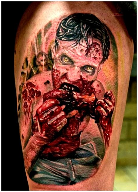 horror zombie tattoo on foot real photo pictures images 40 zombie tattoo designs that scare to death