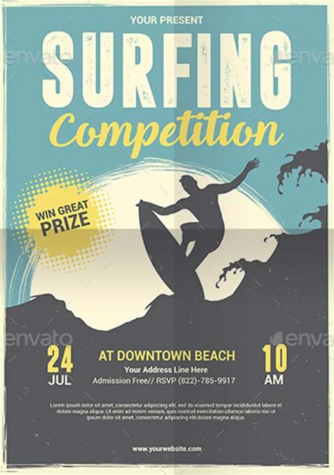 competition flyer template free ffflyer surfing competition flyer and poster template