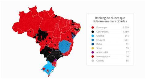 times q mais devem no brasil 2016 mapa revela times mais curtidos em cada uma das 5 570