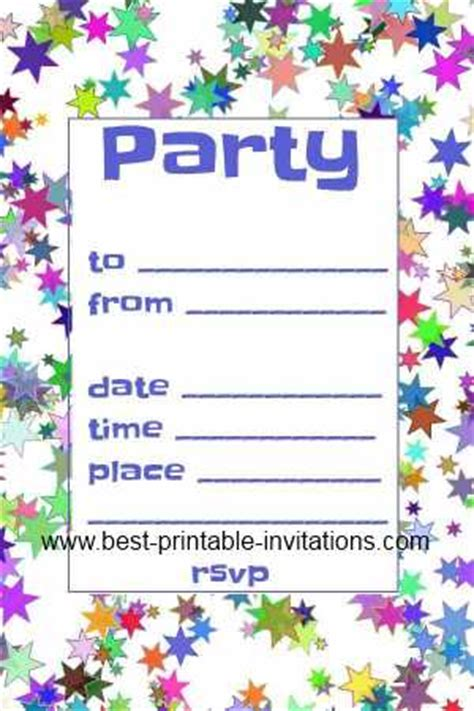 free printable birthday invitations templates for free invitations printable invitation templates