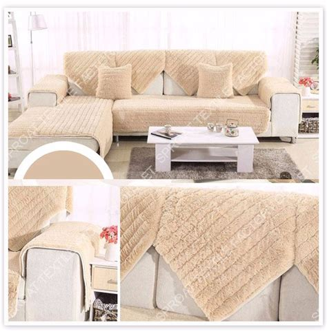 Fur Sofa Cover Fur Sofa Cover Plush Slipcovers Winter Canape For