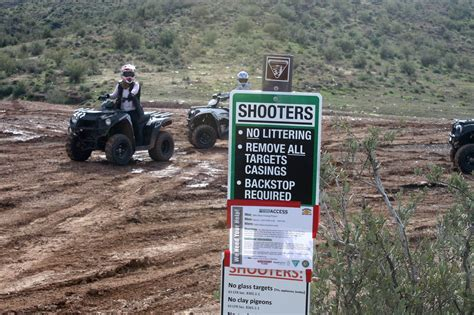 Table Mesa Shooting by Target Practice In The Desert Of The Valley Causing Trigger Trash Cronkite News