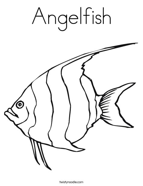 angelfish coloring page twisty noodle
