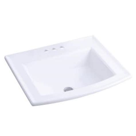 home depot kohler bathroom sink kohler archer self rimming bathroom sink in white k 2356 8
