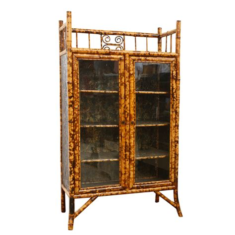 bamboo cabinet english antique bamboo cabinet with laquer top on