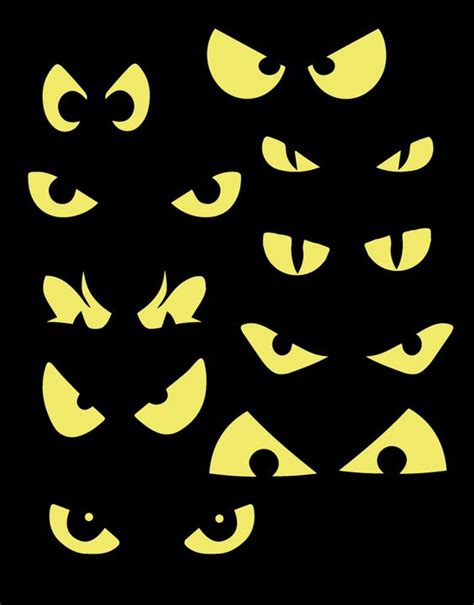 printable spooky halloween eyes pinterest the world s catalog of ideas