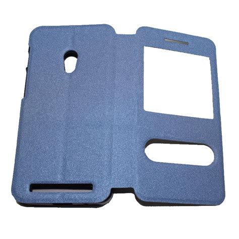 Taff Leather Flip For Asus Zenfone 4s taff leather flip window asus zenfone 4s blue