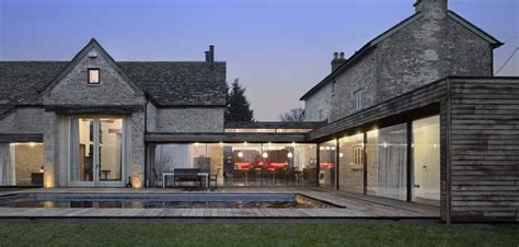 new england farmhouse architectural bliss pinterest furzey hall farm contemporary linking extension building