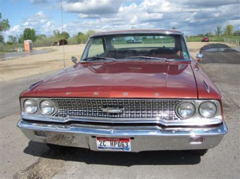 find used 1963 1 2 galaxie 500xl factory 427 4 spd q code original v code chestnut paint in