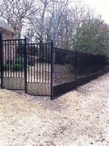 wrought iron fence with wood or composite wood privacy slats fences pinterest privacy
