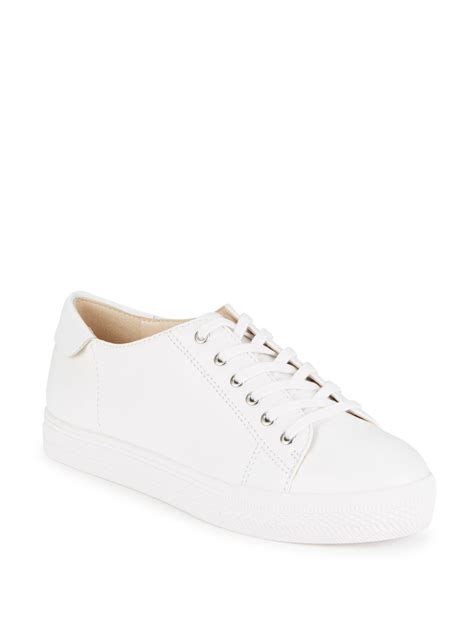 leather platform sneakers nine west leather platform sneakers in white lyst