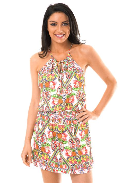 tropical pattern clothes blue man beach dress with tropical patterns guarana drop