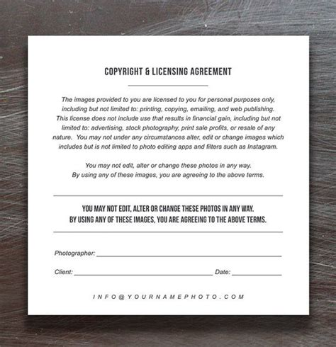 Copyright Release Letter Photography Template 1000 images about building a business on
